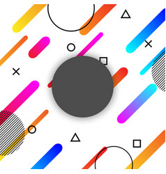 abstract shapes compositions background with vector image