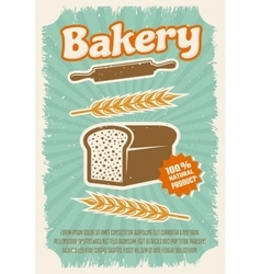 Bakery Retro Style Poster vector image