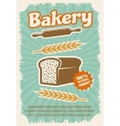 Bakery retro style poster vector
