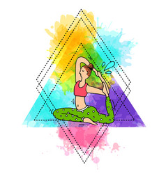 beautiful hand drawn do yoga vector image