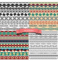 big set vintage borders for design vector image