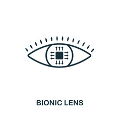 bionic lens icon premium style design from future vector image