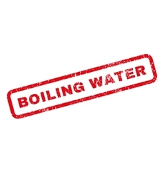 Boiling Water Rubber Stamp vector image