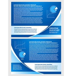 brochure folder info diagram design blue vector image