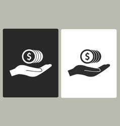 Cash on hand - icon vector