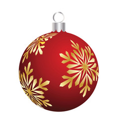 christmas new year ball vector image