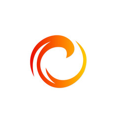 Circle absract round art company logo vector