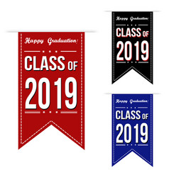Class of 2018 banner design set vector