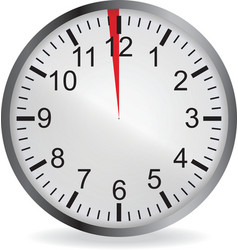 Clock with red 1 minute deadline vector image