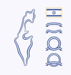 Colors israel vector