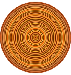 Concentric pipes circular shape in multiple orange vector