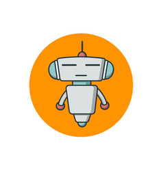 cute outline robot vector image