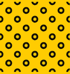 delicious donut dessert pattern vector image