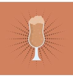 delicious milkshake cup vector image