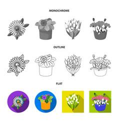 Design spring and wreath icon vector