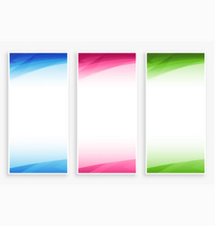 empty banner backdrop with abstract color shapes vector image