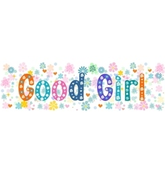 Good girl banner vector