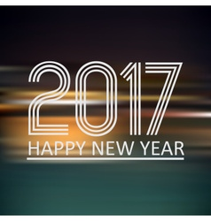 happy new year 2017 on dark color night horizontal vector image