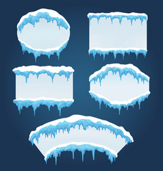 Icicles boards for sale vector