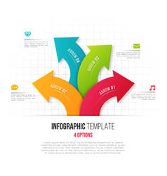 infographics with 4 option branching circular vector image