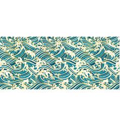 japan oriental wave seamless wallpaper vector image