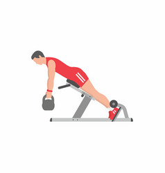 Man doing lower back exercise vector