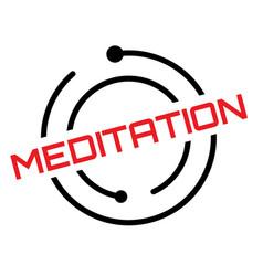 Meditation typographic stamp vector