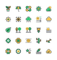 Nature Park Icons 2 vector image
