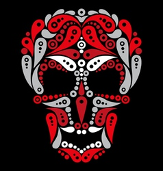 Ornate tattoo skull vector image