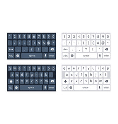 phone keyboard mockup qwerty keypad alphabet vector image
