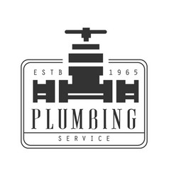 Plumbing repair and renovation service black and vector