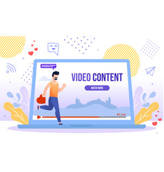 popular and trendy video content concept vector image