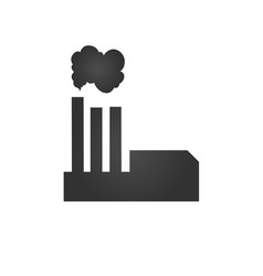 power plant icon factory industrial building vector image