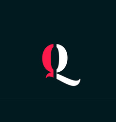 Q alphabet letter logo design suitable for a vector