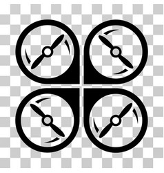 Quadcopter screws rotation icon vector