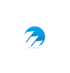 Round business progress logo vector
