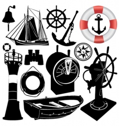 sailing objects vector image