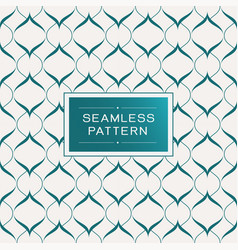 Seamless pattern with simple line and shape vector