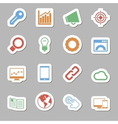 Seo icons as labes vector