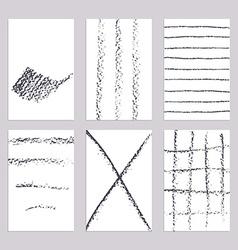 Sketch pencil line banners vector