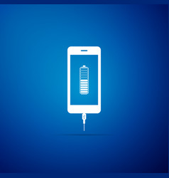 smartphone battery charge icon isolated vector image