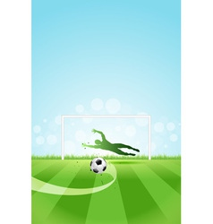 Soccer Background with Goalkeeper and Ball vector image