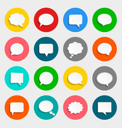 Speech bubbles icons in flat design with vector