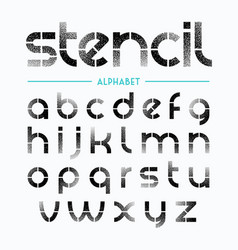 Spray painted stencil alphabet letters vector