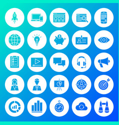 startup circle solid icons vector image