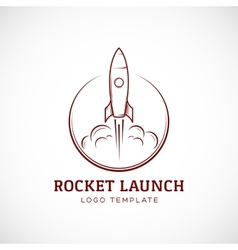 Startup Rocket Space Ship Abstract Logo vector