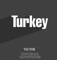 Turkey symbol Flat modern web design with long vector