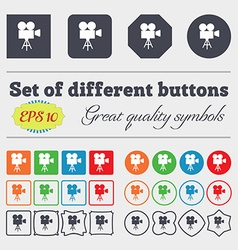Video camera icon sign Big set of colorful diverse vector image