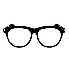 vintage eyeglasses icon simple style vector image