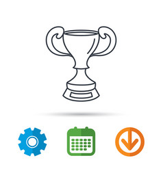 winner cup icon award sign vector image